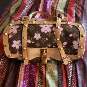 LV murakami pink cherry blossom Pappilon